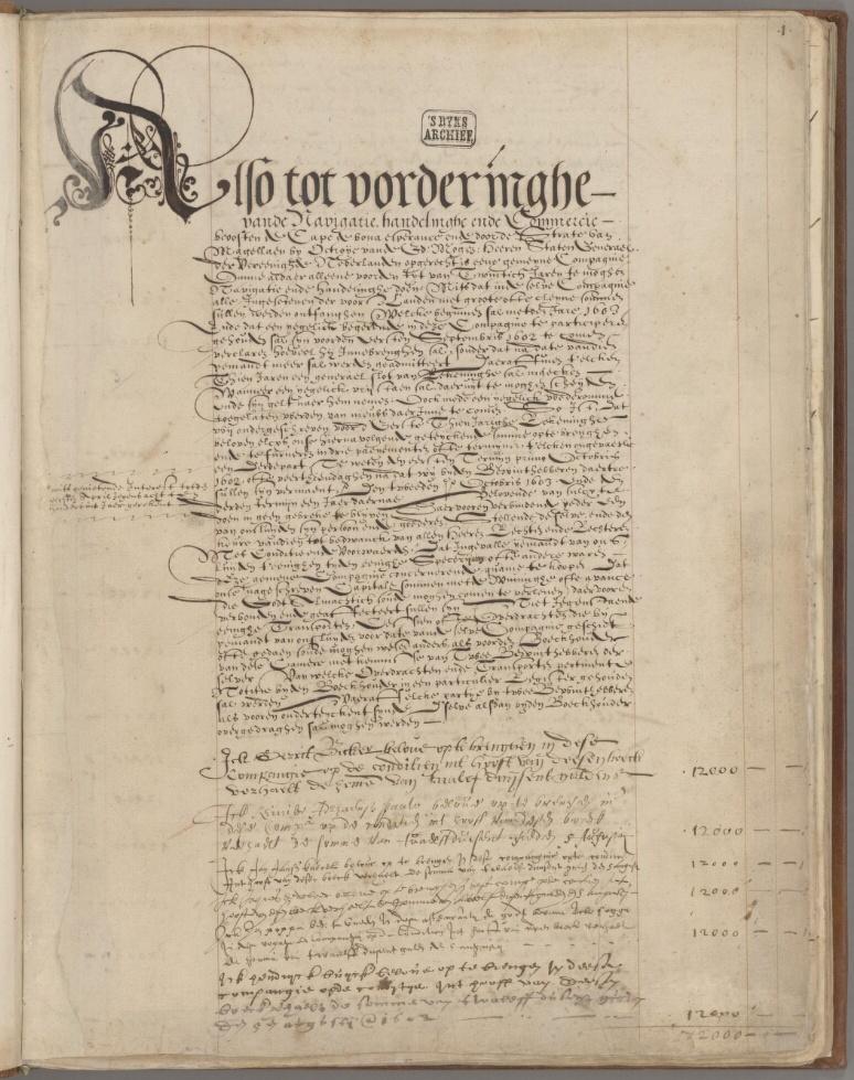 Last page of VOC capital subscription ledger (August 1602)