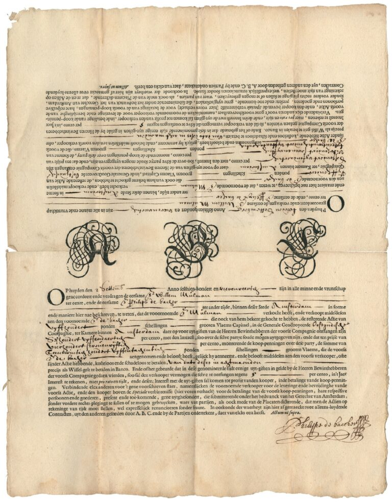 17th-century forward contract