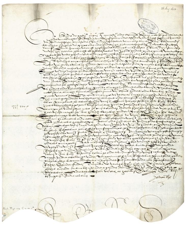 17th-c handwritten forward contract